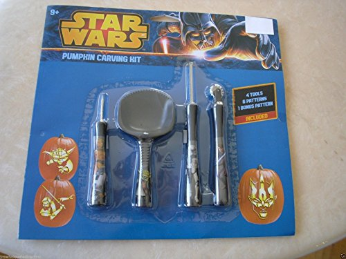 New ! Star Wars Halloween Pumpkin Carving Kit 50227 4 Tools 6 Patterns included (2016 Pumpkin Carving Ideas)