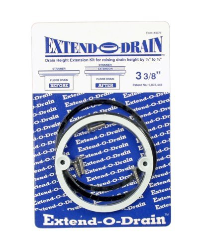 Floor Drain Elevation : Extend o drain quot height extension kit tile