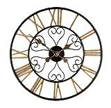 Hamilton Roman Numeral Metal Garden Wall Clock 50cm (19.7