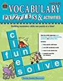 Vocabulary Puzzles & Activities, Grade 4 (1420680765) by Teacher Created Resources