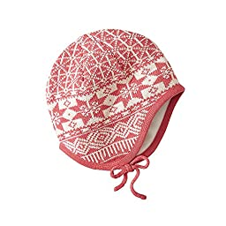 Hanna Andersson Baby Baby Nordic Knitting Pilot Cap, Size S (1-3 Years), Imagine Pink