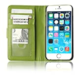 Boriyuan New iPhone 6 Case High Quality Protective Stylish Ultra Slim Wallet Flip Folio Leather Case Carrying Holster for Apple iPhone 6 4.7 Inch Smartphone iPhone 6 4.7
