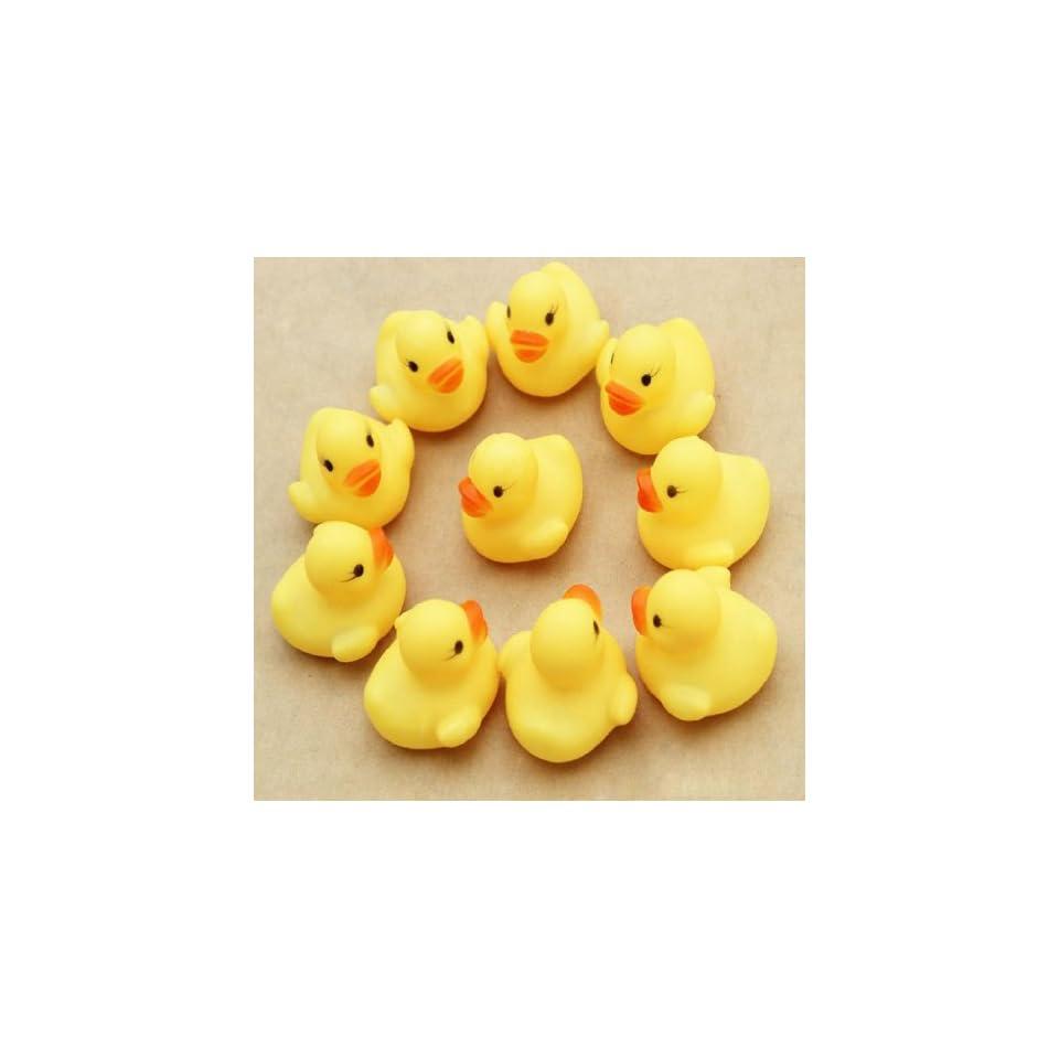 Doinshop Brand NEW One Dozen (12) Rubber Duck Ducky Duckie Baby Shower Birthday Party Favors