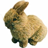 Living Nature Sitting Bunny Rabbit Soft Toy - Gold