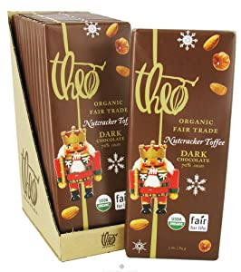 Theo Chocolate - Classic Collection Organic Dark Chocolate 70% Cacao Nutcracker Toffee - 3 oz. by Theo Chocolate