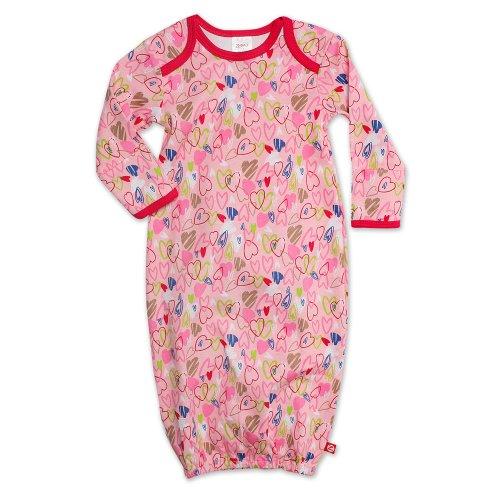 Zutano Baby-Girls Newborn Love You Gown, Blush, Newborn front-999339