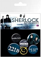 Posters: Sherlock Badge Pack - Mix, 4 X 25mm & 2 X 32mm Badges (6 x 4 inches)