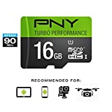 PNY Turbo Performance 16GB High Speed MicroSDHC Class 10 UHS-I, U1 up to 90MB/sec Flash Card (P-SDU16GU190G-GE)