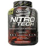 Proteína Whey Aislada + Lean constructor muscular MuscleTech NitroTech 3.97 libras, sabor fresa