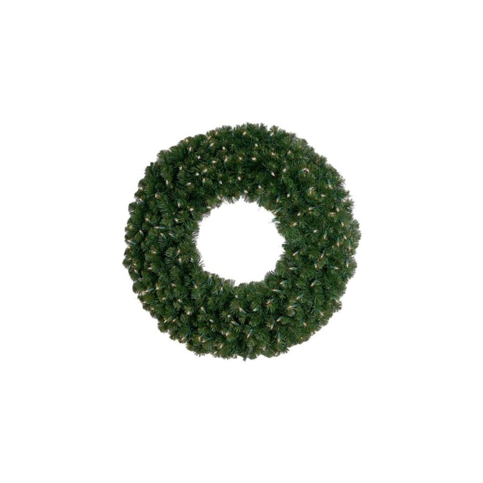 Christmas Wreath   Deluxe Oregon Fir   Pre Lit LED Mini Christmas