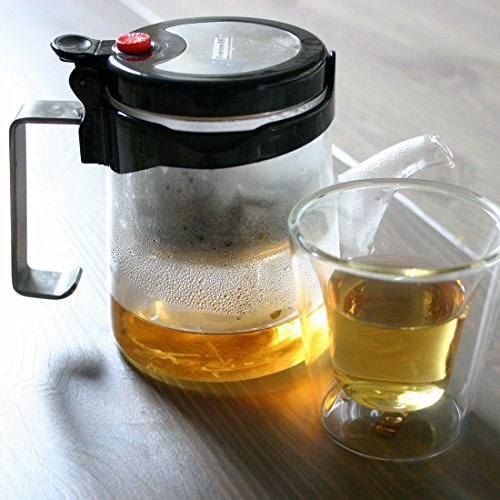 One Touch Tea Maker / Thick Borosilicate Glass / Stainless Steel Lid & Handle (Tea Maker One Touch compare prices)