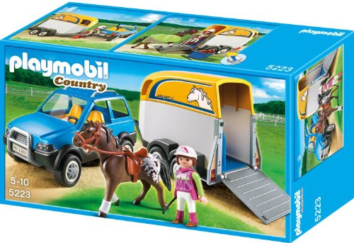 Playmobil SUV with Horse Trailer at Sears.com