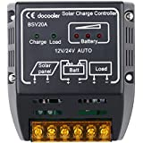 Docooler 20A 12V/24V Solar Charge Controller Solar Panel Battery Regulator Safe Protection