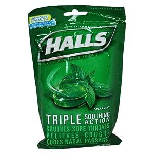 halls triple soothing action cough suppressant drops spearmint 30 ea health. Black Bedroom Furniture Sets. Home Design Ideas