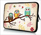 FBA ps10-002 NEW Fashion three Owl 9.7 10 10.1 10.2 inch soft Neoprene Laptop Netbook Tablet Case Sleeve bag cover pouch For iPad 2