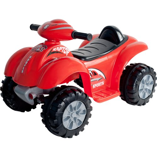 Lil' Rider Battery-Powered Red Raptor 4-Wheeler, Red front-841423