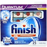 Finish Quantum Dishwasher Detergent with Baking Soda, 25 Count