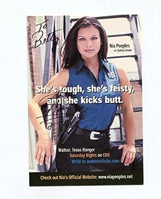 Nia Peeples-4x6-autographed Card-texas Walker Ranger-actress