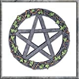 Ivy Pentagram Pagan Wall Art Plaque 20 cm