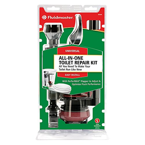 This all-in-one toilet repair kit is all you need to make your toilet run like new--fits 2 and 3-bolt tanks and has a 5 year warranty