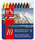 Caran D'Ache Neocolor II - Crayons Pastels cire soluble dans l'eau - Bote de 10
