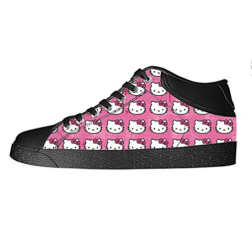 YKMS-Custom-Hello-Kitty-Ladys-Womens-High-top-Canvas-Shoes-Footwear