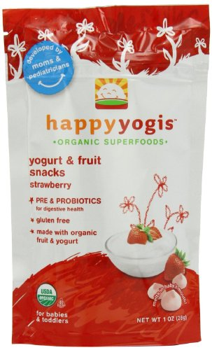 Happy Family happy yogis Yogurt Snacks - Strawberry - 1 oz