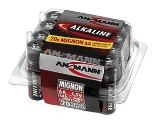"ANSMANN Pile alcaline ""RED LINE"", type AA, blister de 20"