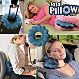 Kawachi Total Magic Travel Twist Pillow Camping Driving Office Flying Holiday Neck Head (Multicolor, 33 cm x 8 cm x 30 cm)