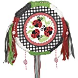 Unique Lively Ladybug Pinata, Pull-String, Red