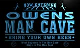 Qc1111-b Owens Man Cave Basketball Neon Beer Sign