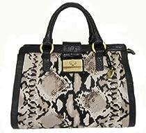 Hot Sale Brahmin Annabelle Black Python Hair Luxe Satchel Shoulder Bag, Black