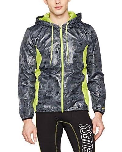 Guess Windbreaker Sweatshirt W/Zip dunkelgrün/limette