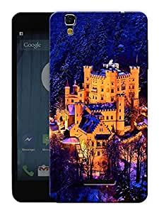 "Humor Gang Castle Snow Printed Designer Mobile Back Cover For ""Yu Yureka"" (3D, Matte, Premium Quality Snap On Case)"