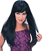 Rubie's Costume Glamour Wig, Black, One Size