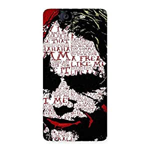 Cute Insane Writing Back Case Cover for Canvas Knight A350