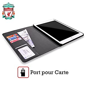Official Liverpool FC LFC Black Pixel 1 LFC Crest 2 Leather Book Wallet Case Cover for Apple iPad Air from Official Liverpool Football Club