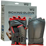 Brand New Boxing Gloves for Nintendo Wii, Black with Red Trim
