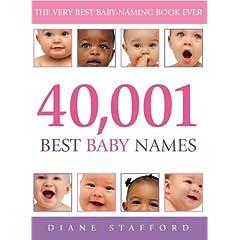 40001 Baby Names Book