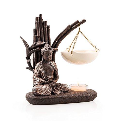 PAJOMA-40791-Duftlampe-Buddha-Kunstharz-Hhe-13-cm
