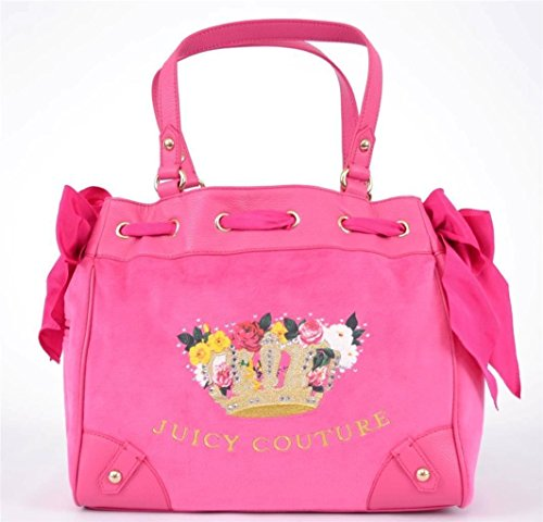 Juicy Couture Daydreamer Pink Velour Handbag (Juicy Couture Side Bag compare prices)