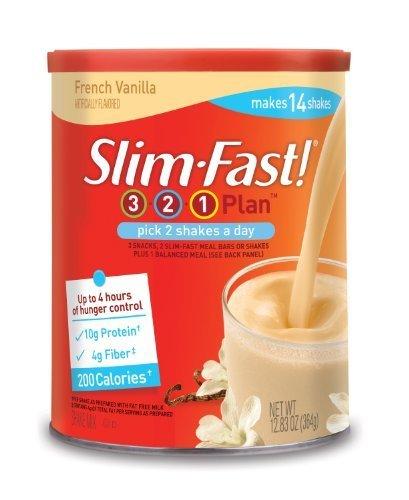 SlimFast 3.2.1. Plan, French Vanilla Shake Mix, 12.83 Ounce (Pack of 3) by Slim-Fast BEAUTY (Slimfast Shake Mix French Vanilla compare prices)
