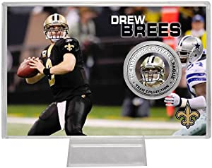 Highland Mint New Orleans Saints 2010 Drew Brees Player Coin by Highland Mint