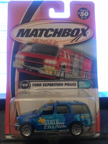 Matchbox Ford Expedition Police Pull Over 50/75 2001 - 1