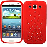 Peacock Silicone Case Cover Skin For Samsung Galaxy S3 i9300 / Red