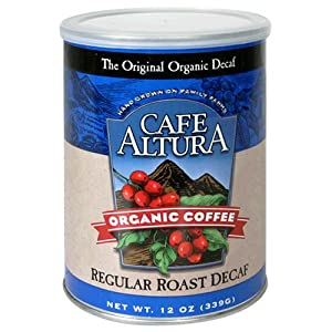 Cafe Altura Organic Coffee, Regular Roast Decaf, Ground, 12-Ounce Can (Pack of 3) at Sears.com