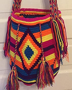 Wayuu Bag Mochila Hand Woven Multicolor #271