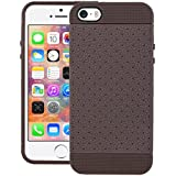 CUBIX Network Series Grip Tpu Soft Jacket Back Case Cover For Apple IPhone 5s (Brown) ( With 30 Days Replacement...