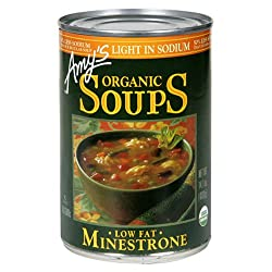 Amy's Light in Sodium Organic Minestrone Soup, 14.1-Ounce Cans (Pack of 12)