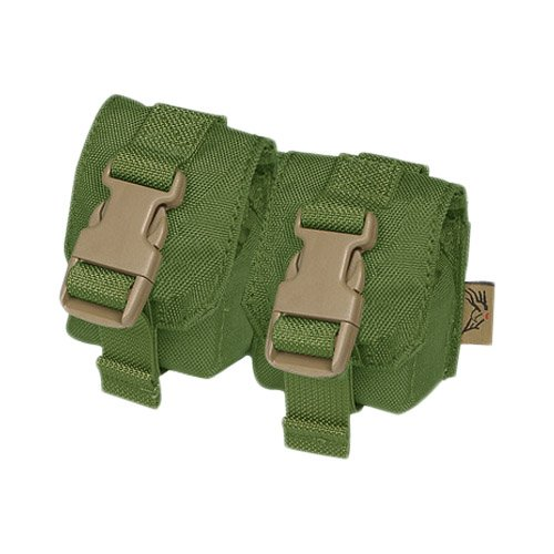 Military Double Dummy Grenade Pouch Tactical MOLLE Airsoft Webbing Olive Drab